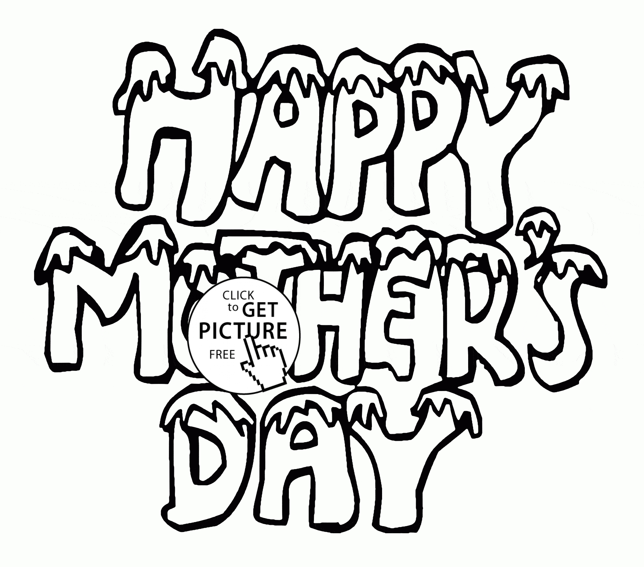 Free Mothers Day Coloring Pages - Mother S Day Coloring Page for Kids Coloring Pages