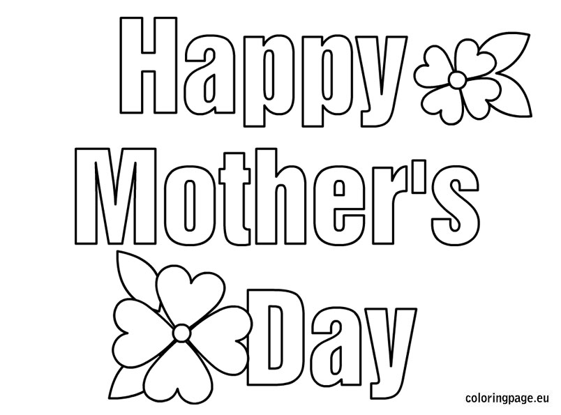 Free Mothers Day Coloring Pages - Mother S Day Coloring Pages Bestofcoloring