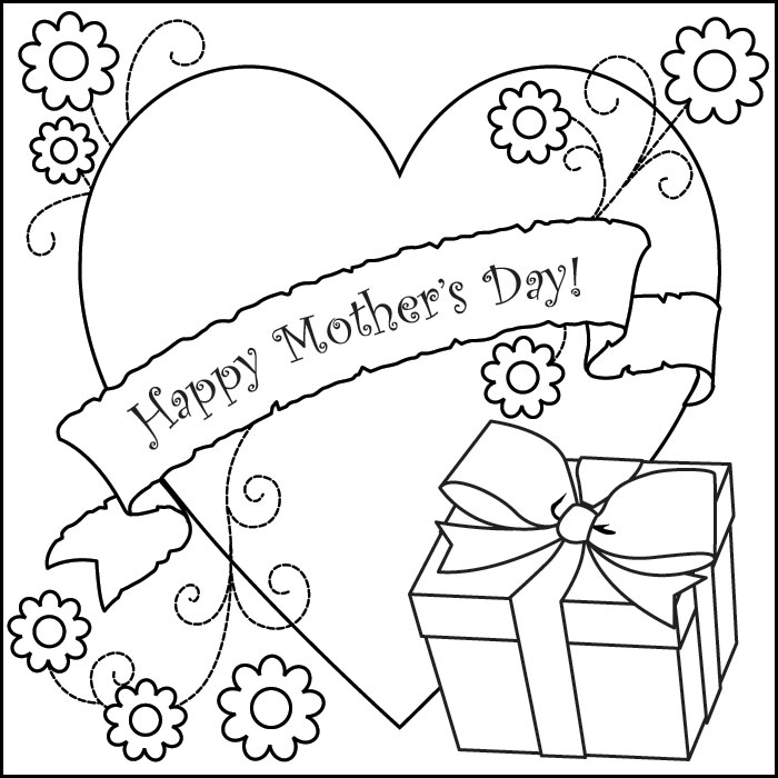 free mothers day coloring pages - mothers day coloring pages 2