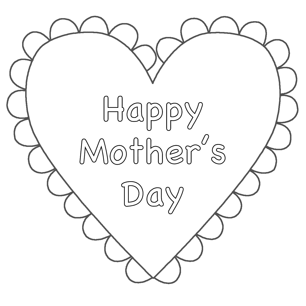 free mothers day coloring pages - mothers day coloring pages 107