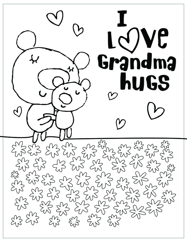 free mothers day coloring pages - mothers day coloring pages grandmatml