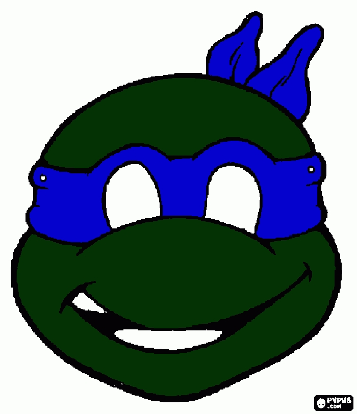free ninja turtle coloring pages - coloring page turtle blue