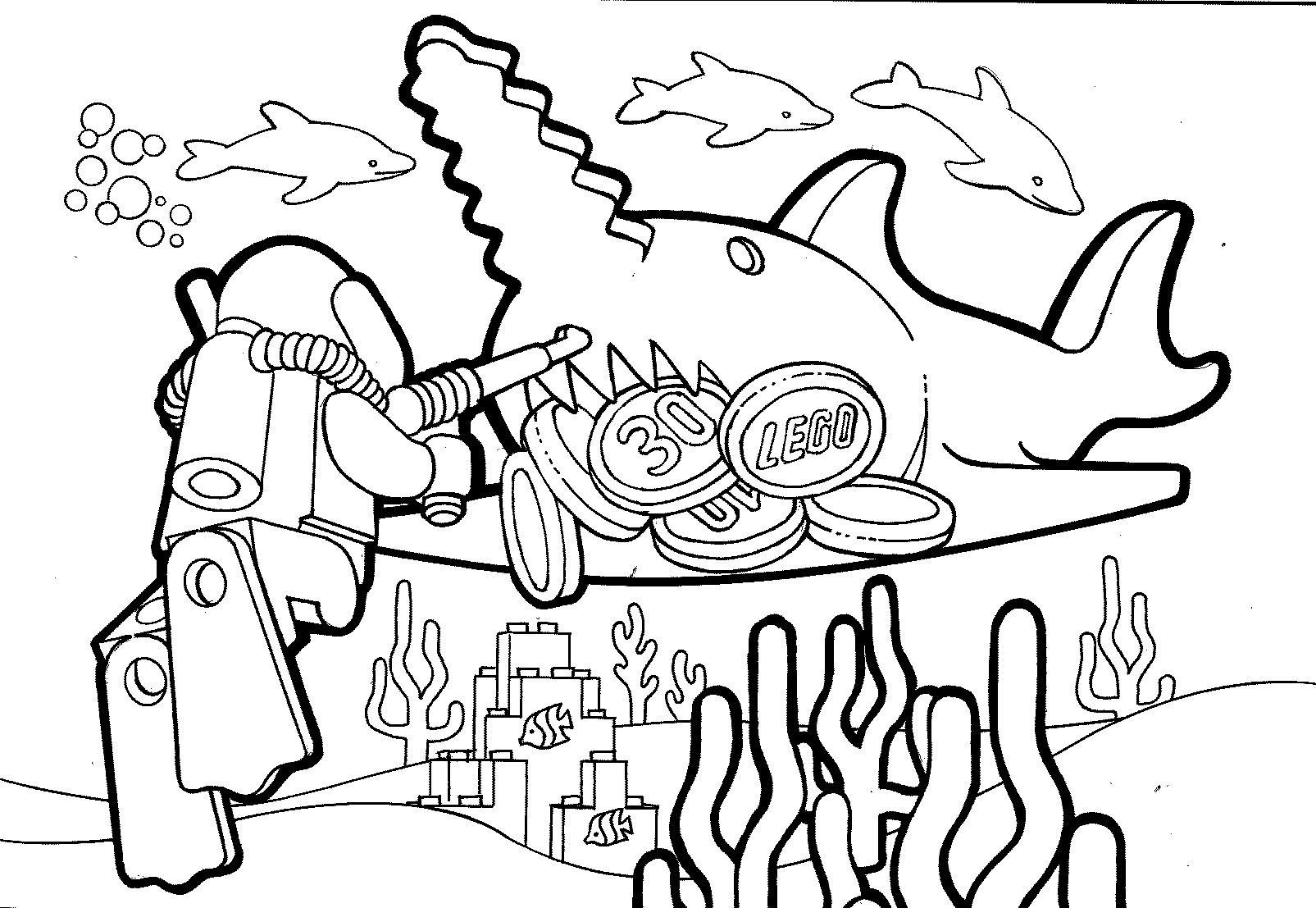 free ninjago coloring pages - duikers
