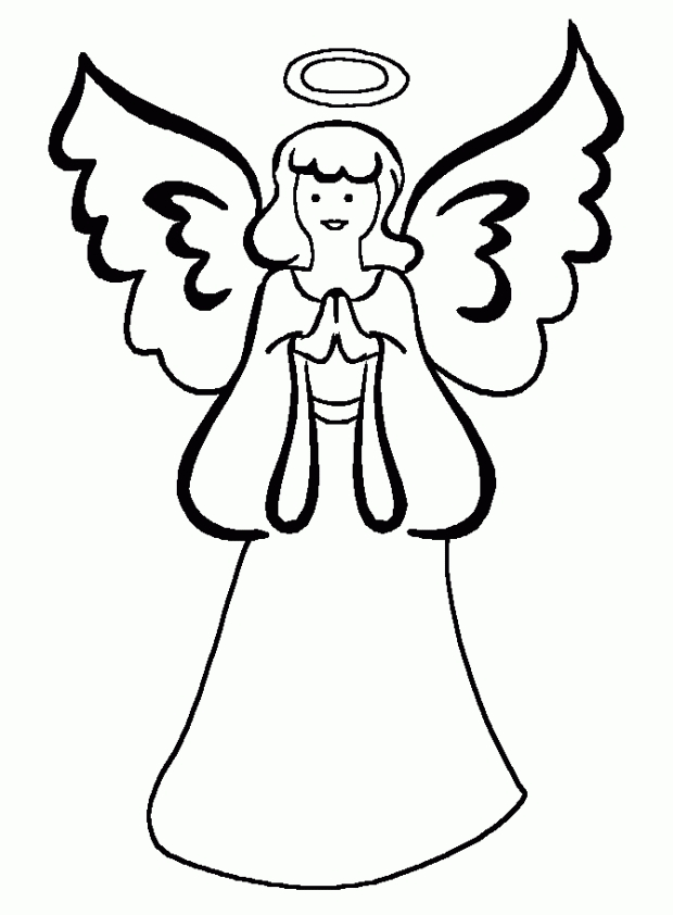 free online coloring pages for adults - angel coloring sheet