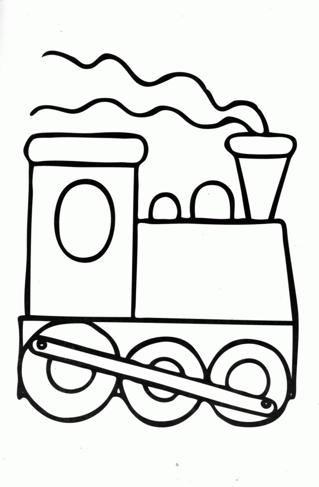 free online coloring pages for adults - pictures of cartoon trains