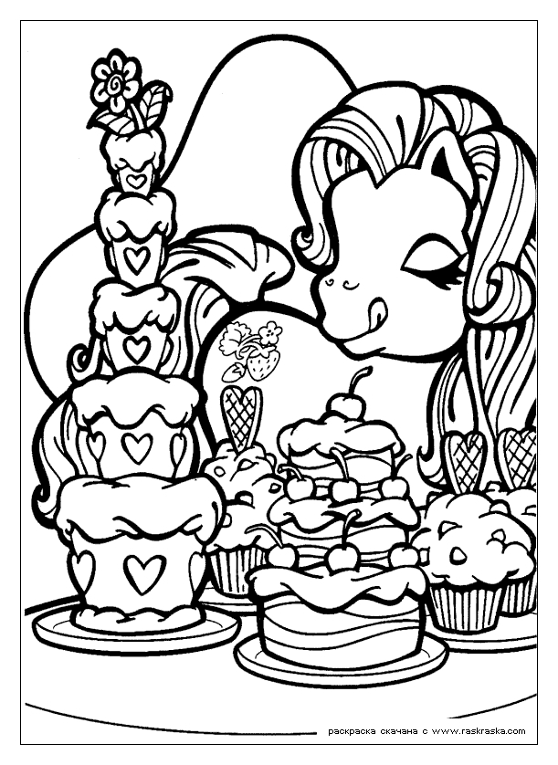 free online coloring pages - my little pony color page