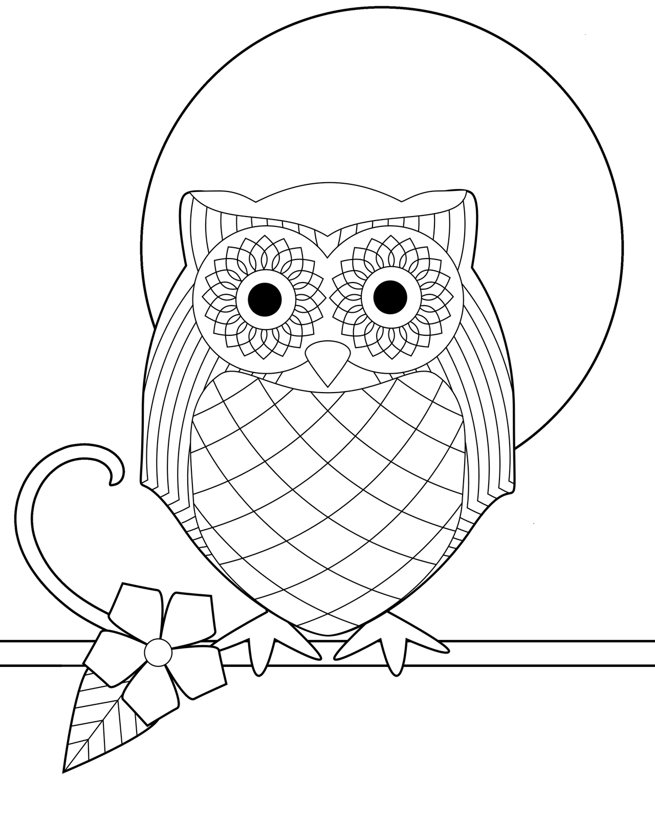 free owl coloring pages - owl coloring page