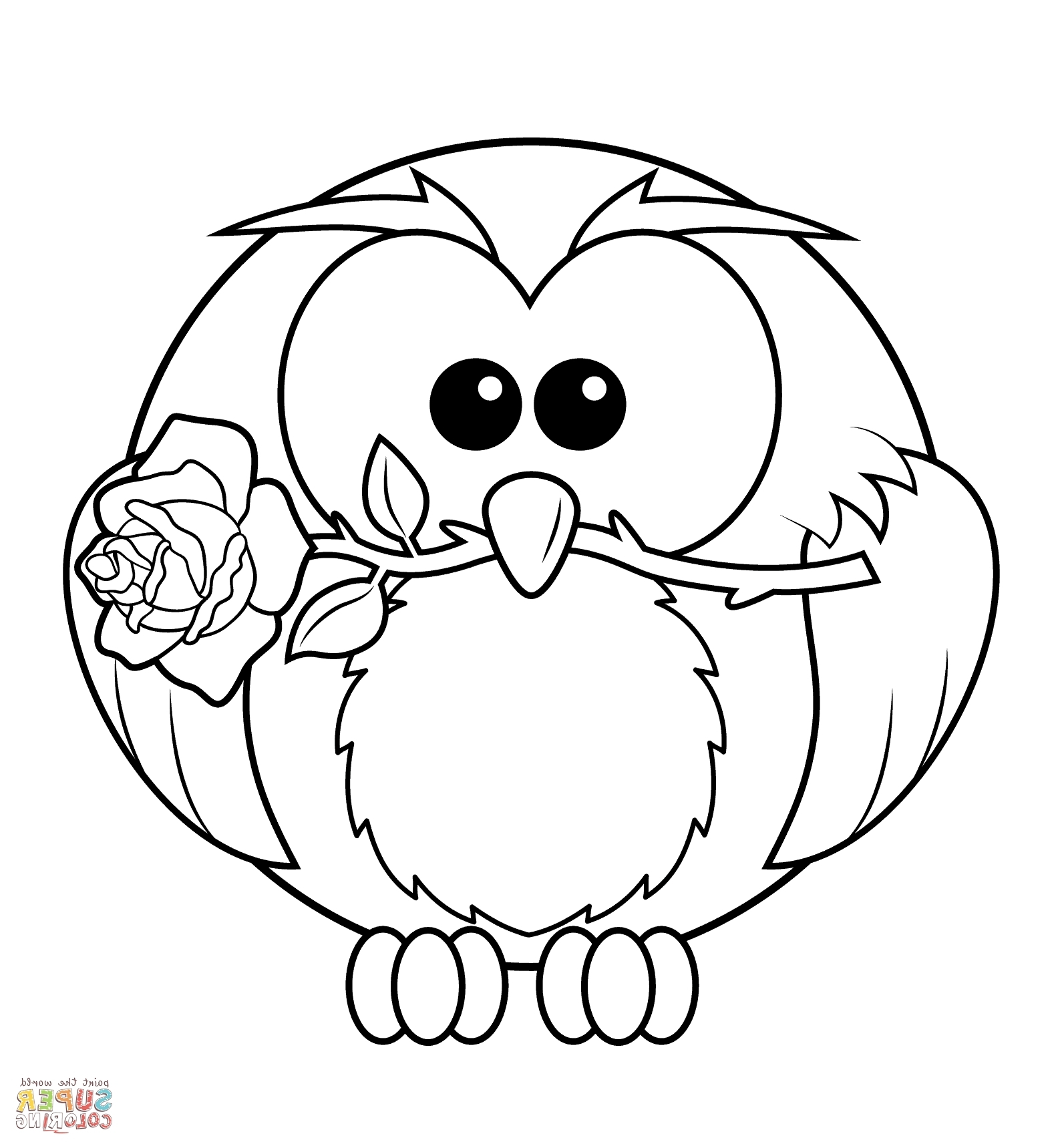 free owl coloring pages - owl face coloring page