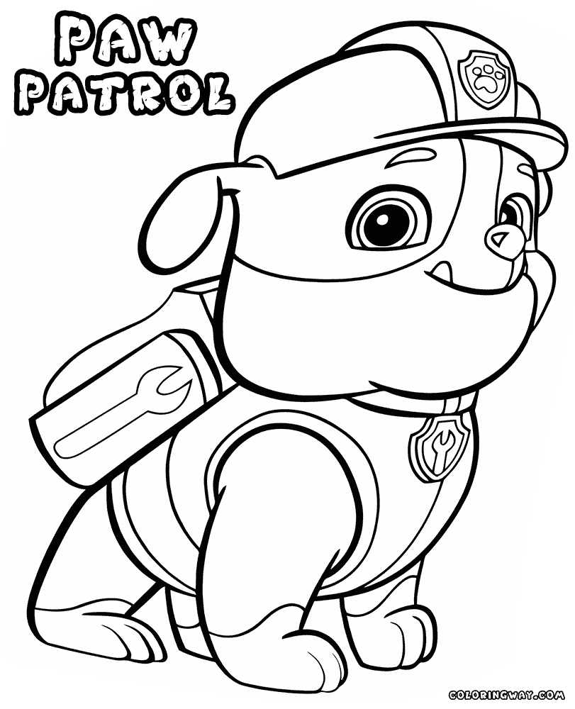free paw patrol coloring pages - marshall paw patrol