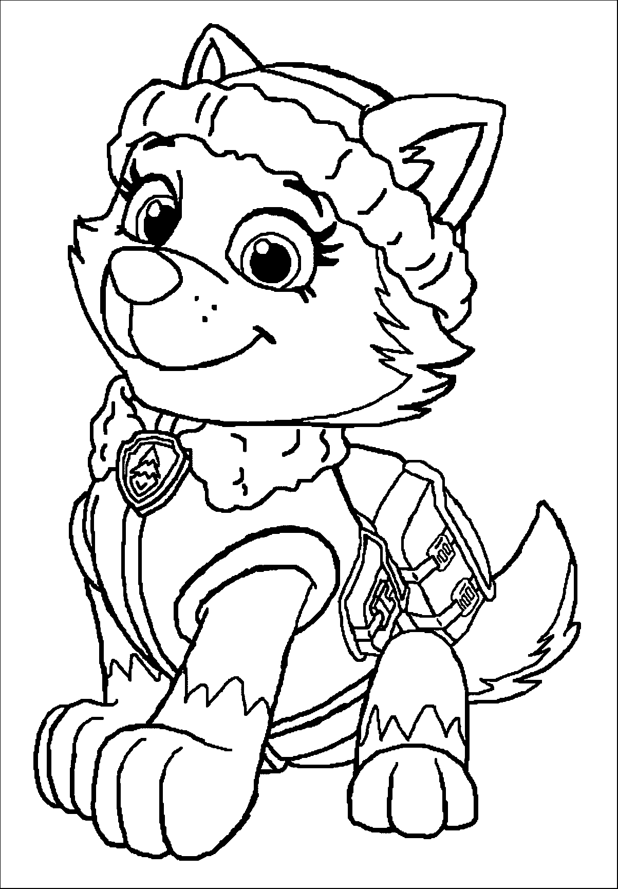 free paw patrol coloring pages - paw patrol caracters