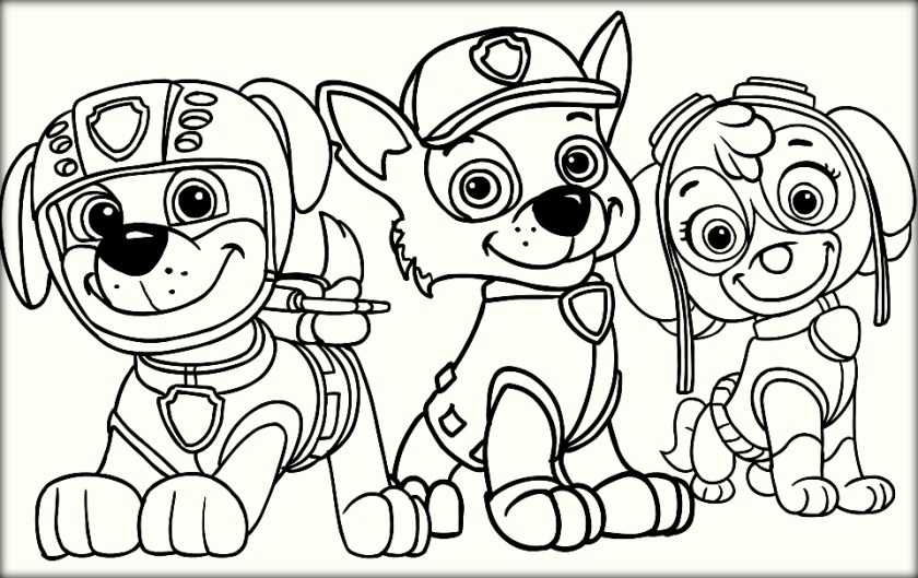 Free Paw Patrol Coloring Pages - Paw Patrol Coloring Pages Color Zini