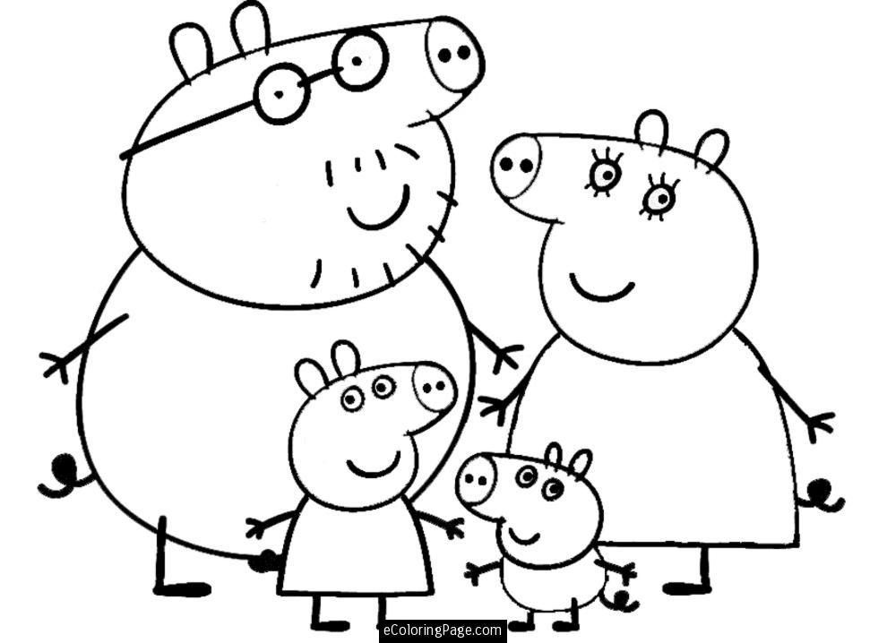 free peppa pig coloring pages - q=peppa pig
