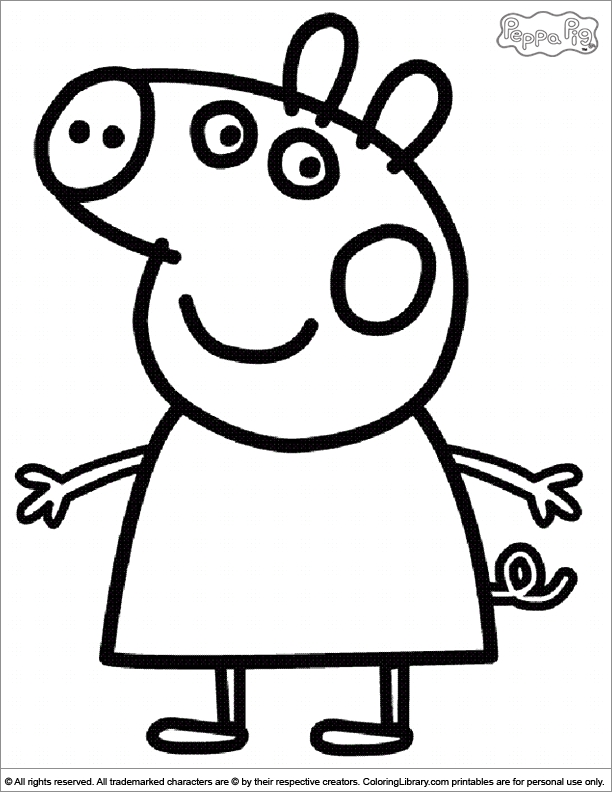 free peppa pig coloring pages - r=peppa pig color