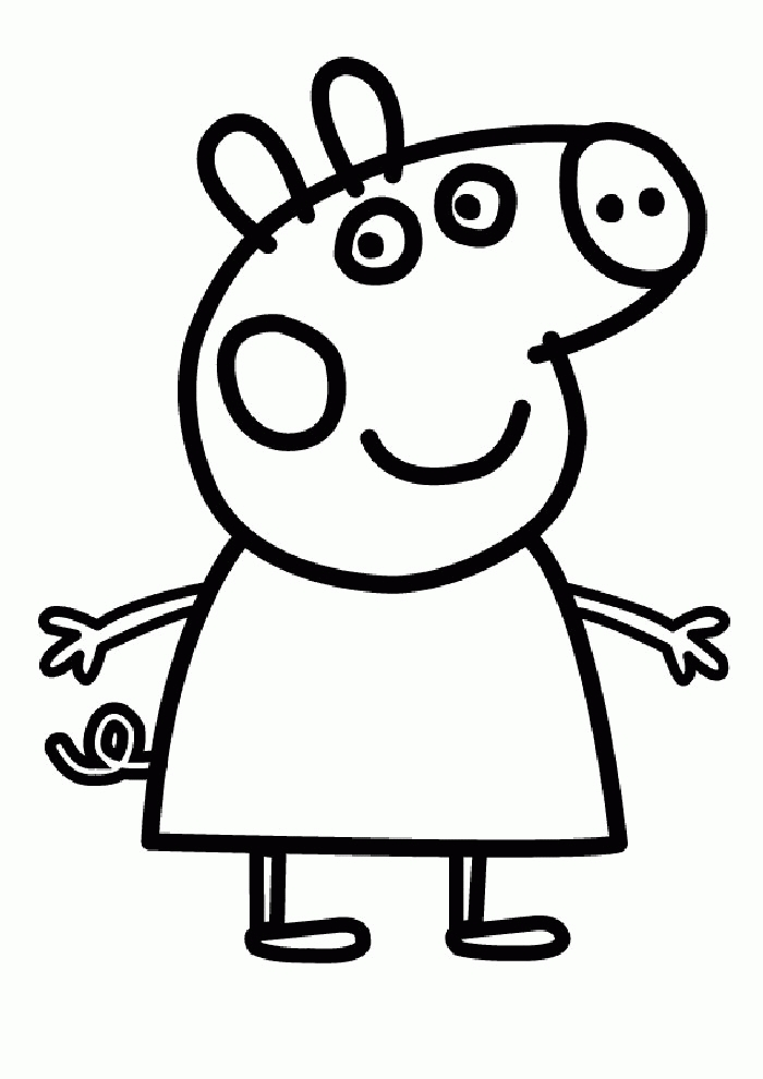 free peppa pig coloring pages - peppa pig coloring beach sketch templates
