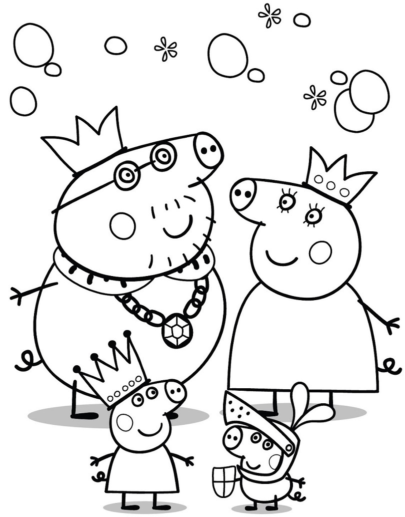 free peppa pig coloring pages - 5750