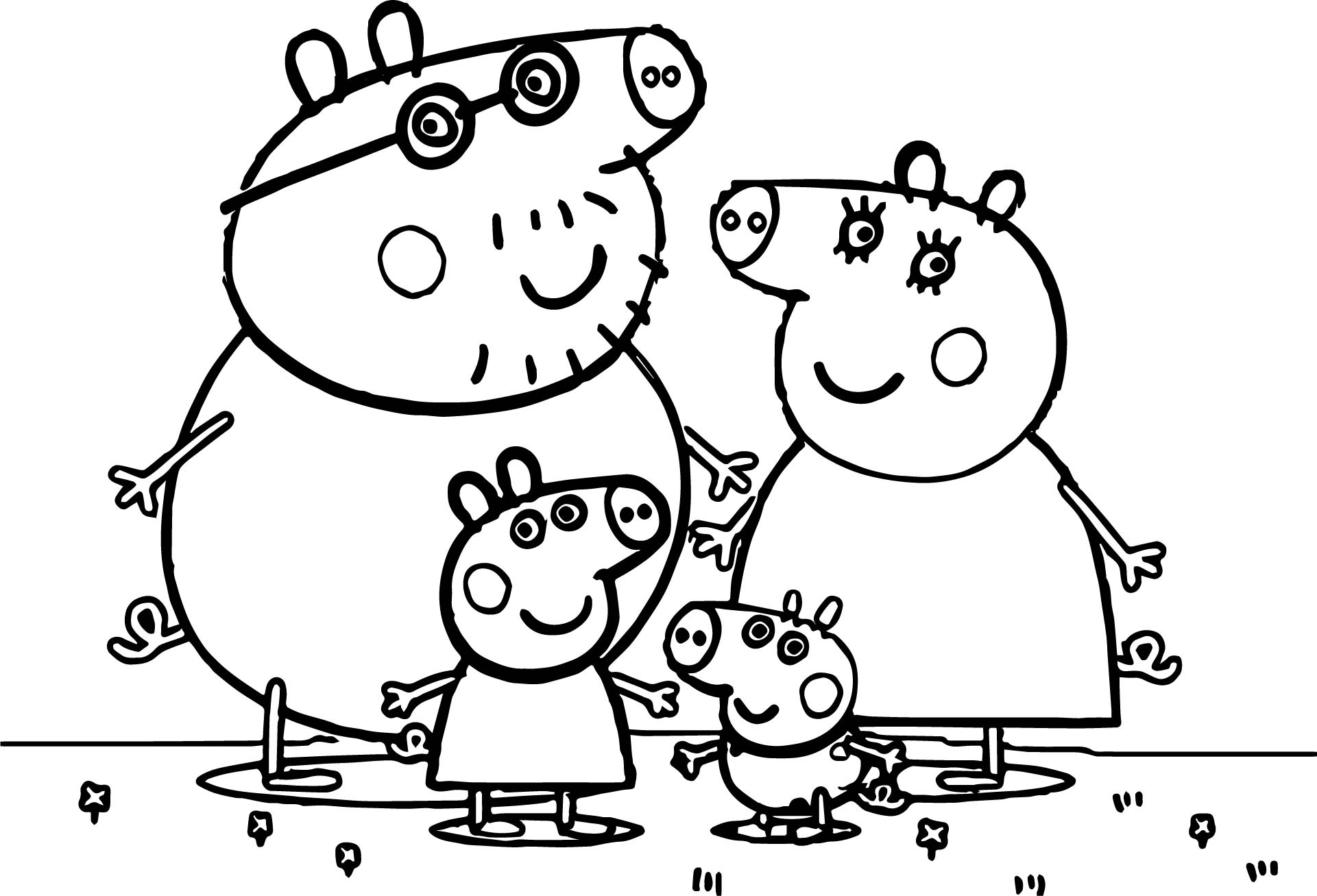 21 Free Peppa Pig Coloring Pages Compilation