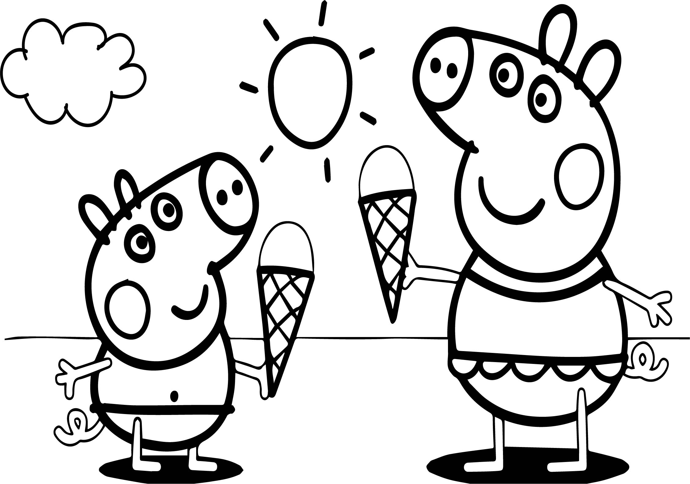 free peppa pig coloring pages - peppa pig video free coloring page