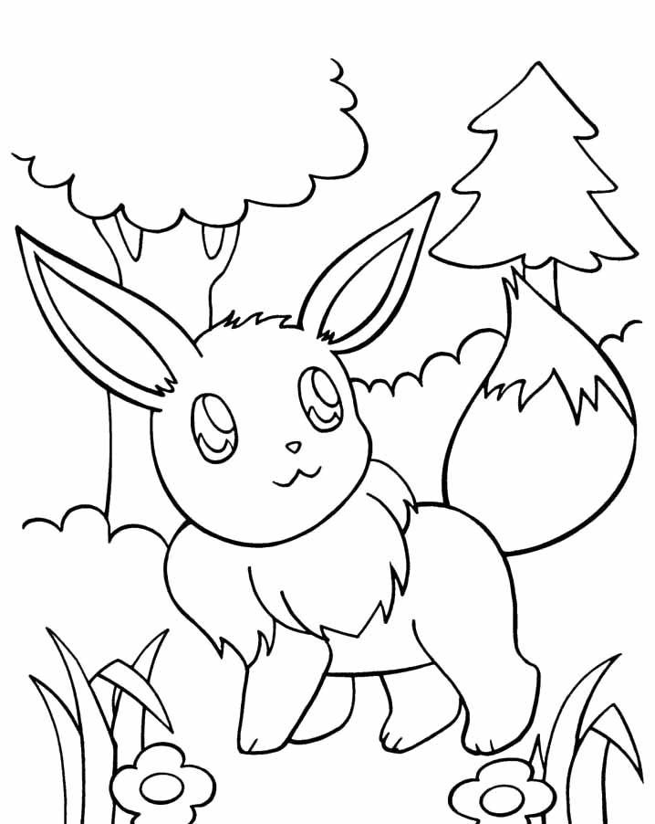 free pokemon coloring pages - saved eevee coloring pages 6 simple pokemon eevee coloring pages 5