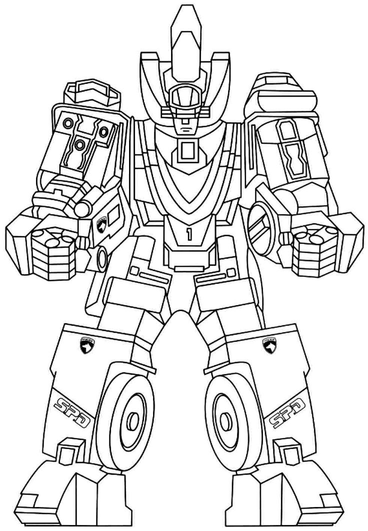 free power ranger coloring pages -