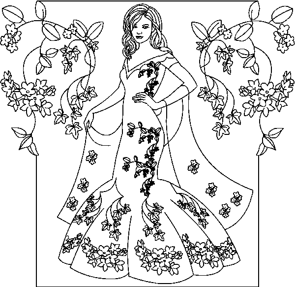 free princess coloring pages - princess coloring pages