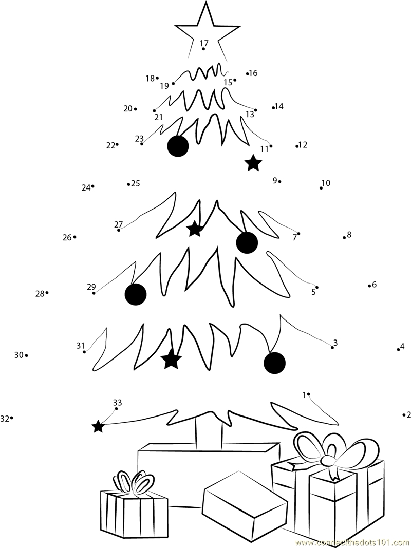 free printable alphabet coloring pages - christmas tree dot to dot printable