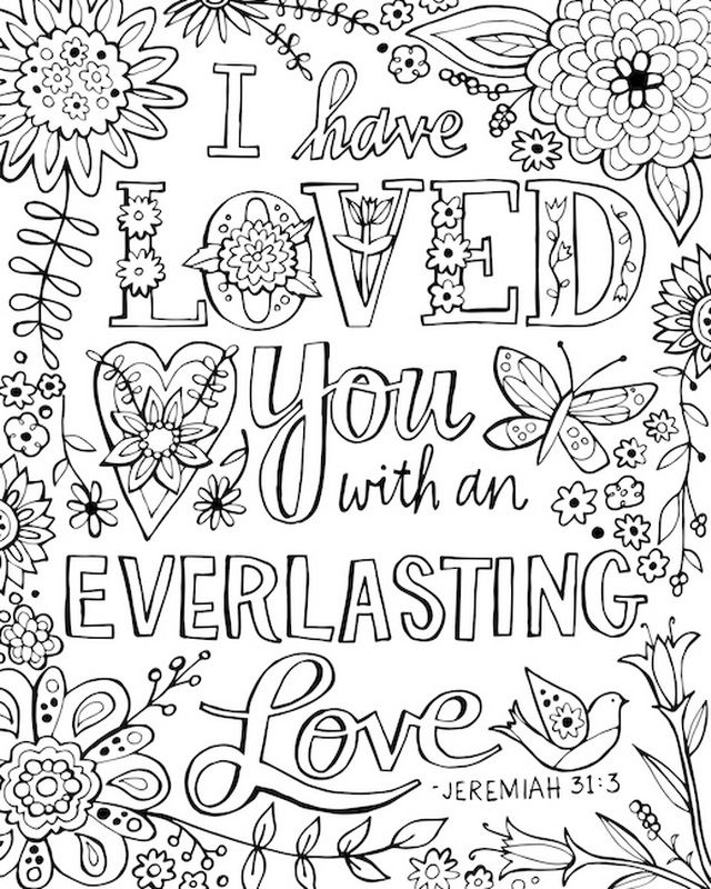 free printable bible coloring pages with scriptures - adult scripture coloring pages