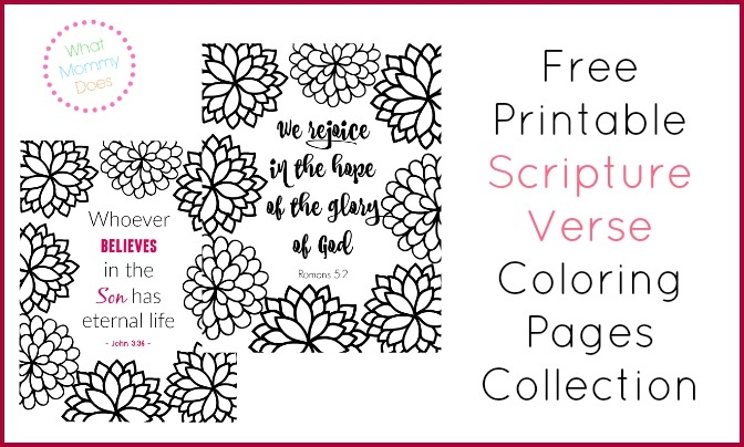 free printable bible coloring pages with scriptures - scripture verse coloring pages