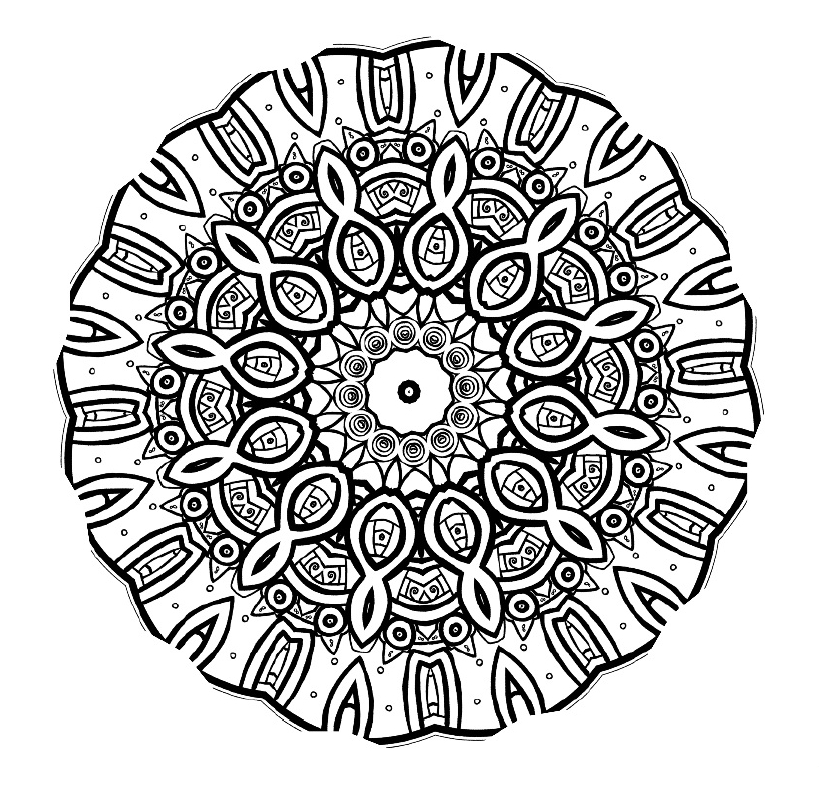 free printable coloring pages for adults advanced - mandala mondays mandala coloring 3