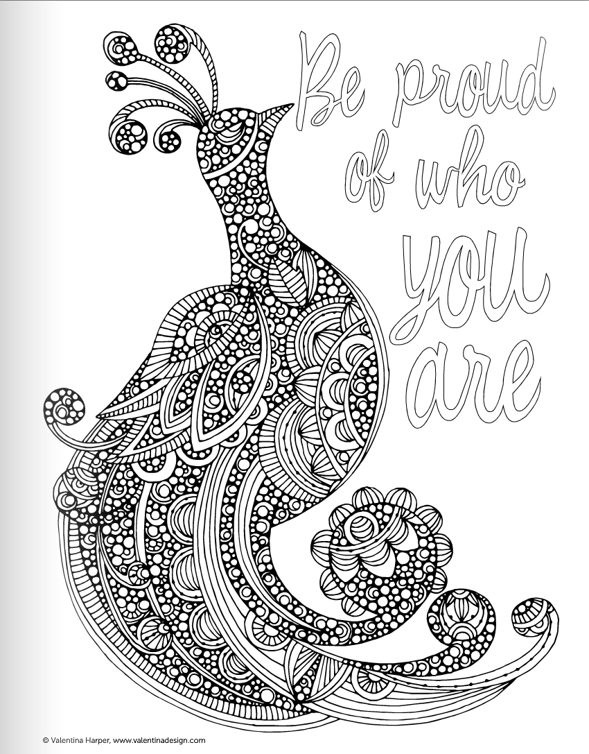 free printable coloring pages for adults advanced - quote coloring pages
