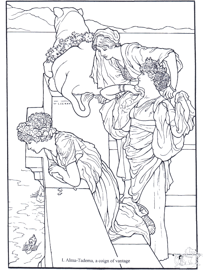 free printable coloring pages for adults advanced - schilder alma tadema