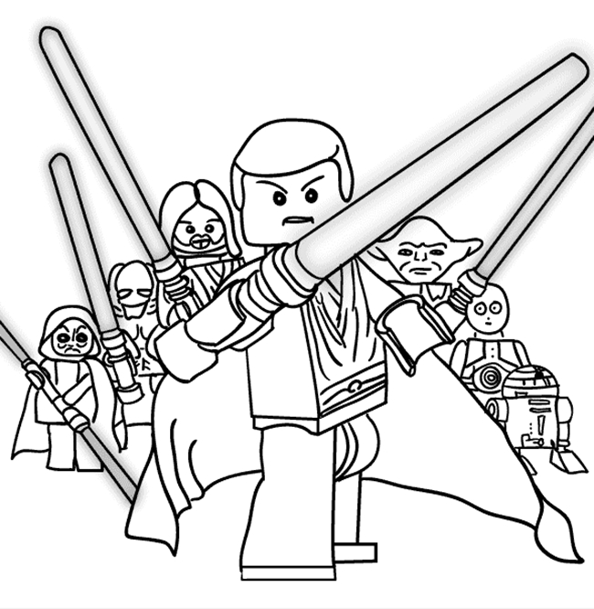 Free Printable Coloring Pages for Adults - Star Wars Free Printable Coloring Pages for Adults & Kids
