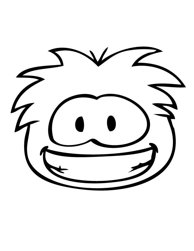 free printable coloring pages for adults only - smiling puffle