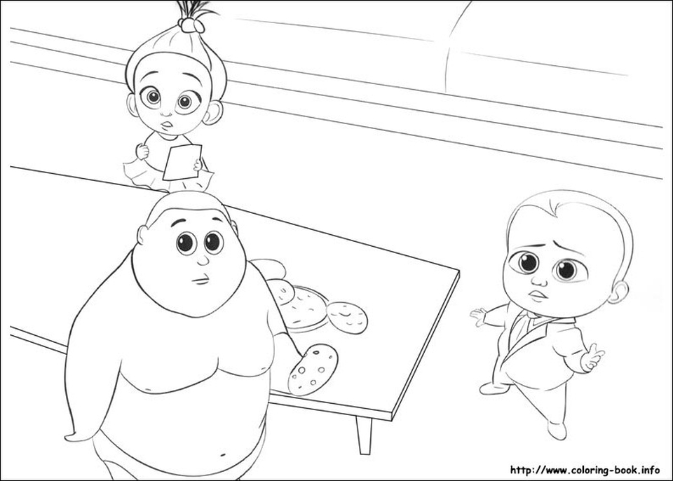 free printable coloring pages for girls - boss baby free printable coloring pages