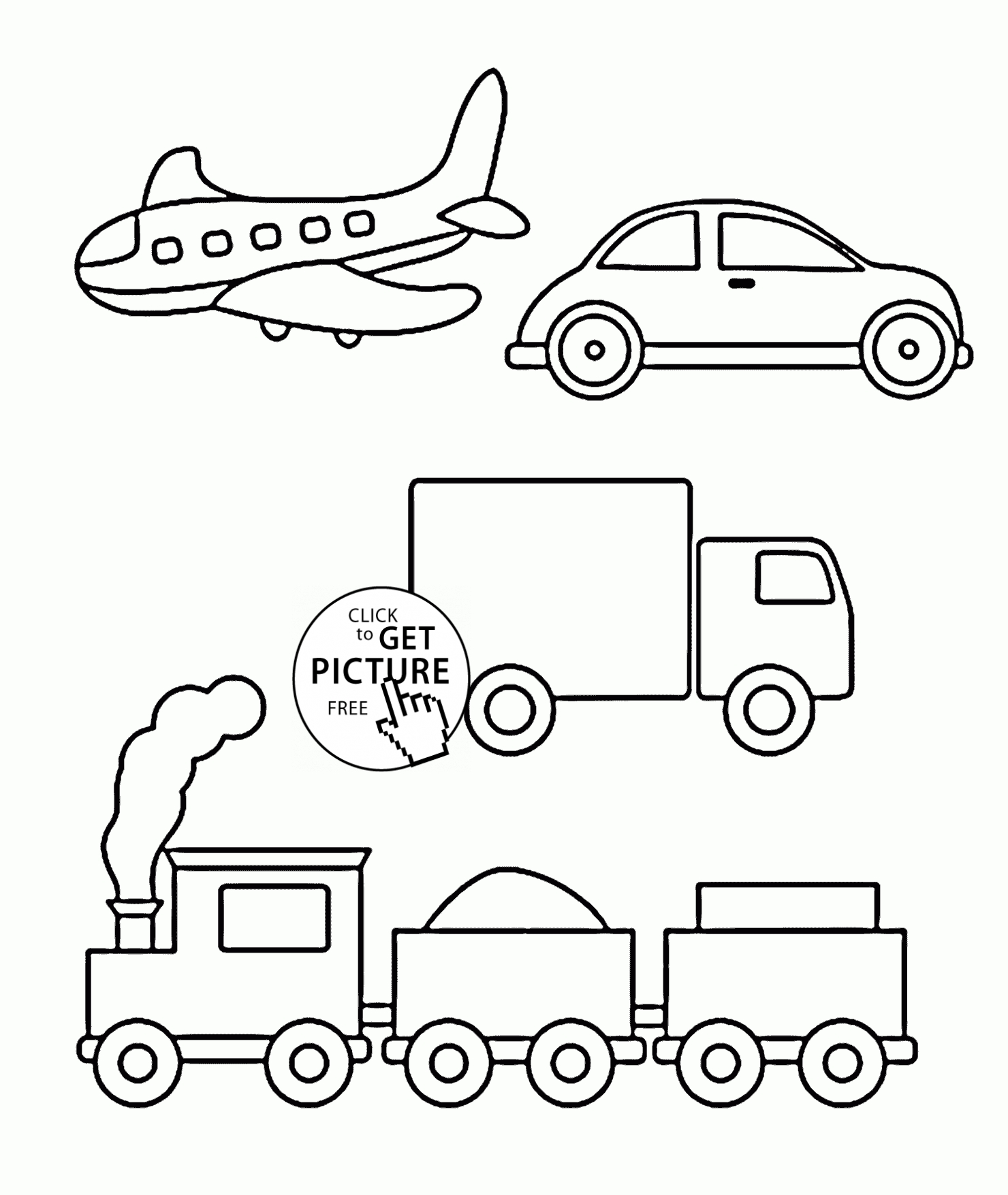 free printable coloring pages for toddlers - simple coloring pages of transportation for toddlers coloring pages printables free