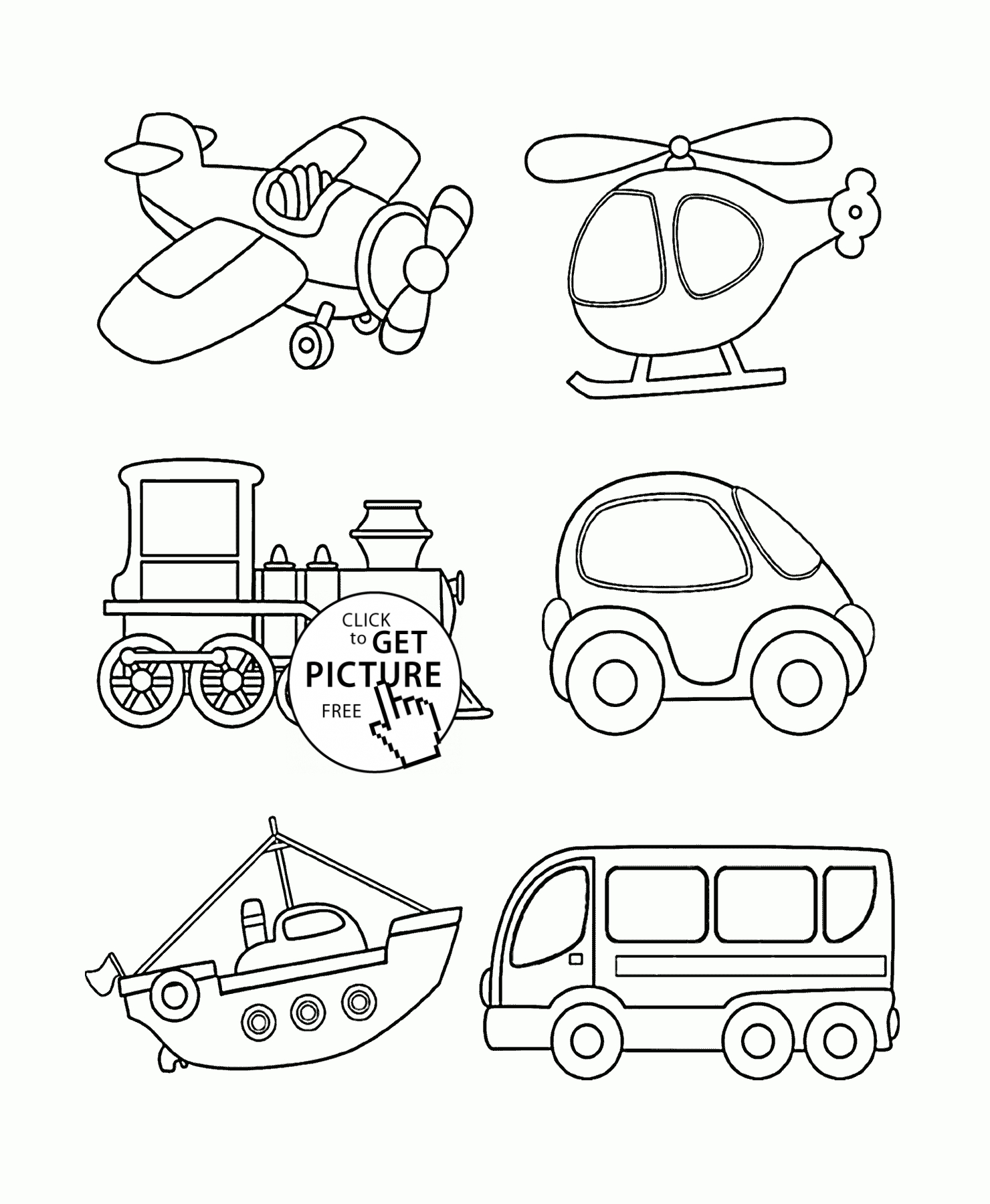 free printable coloring pages for toddlers - transportation coloring page for toddlers coloring pages printables free