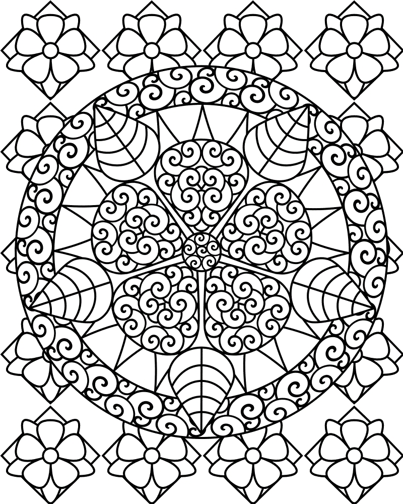 free printable coloring pages - abstract coloring pages