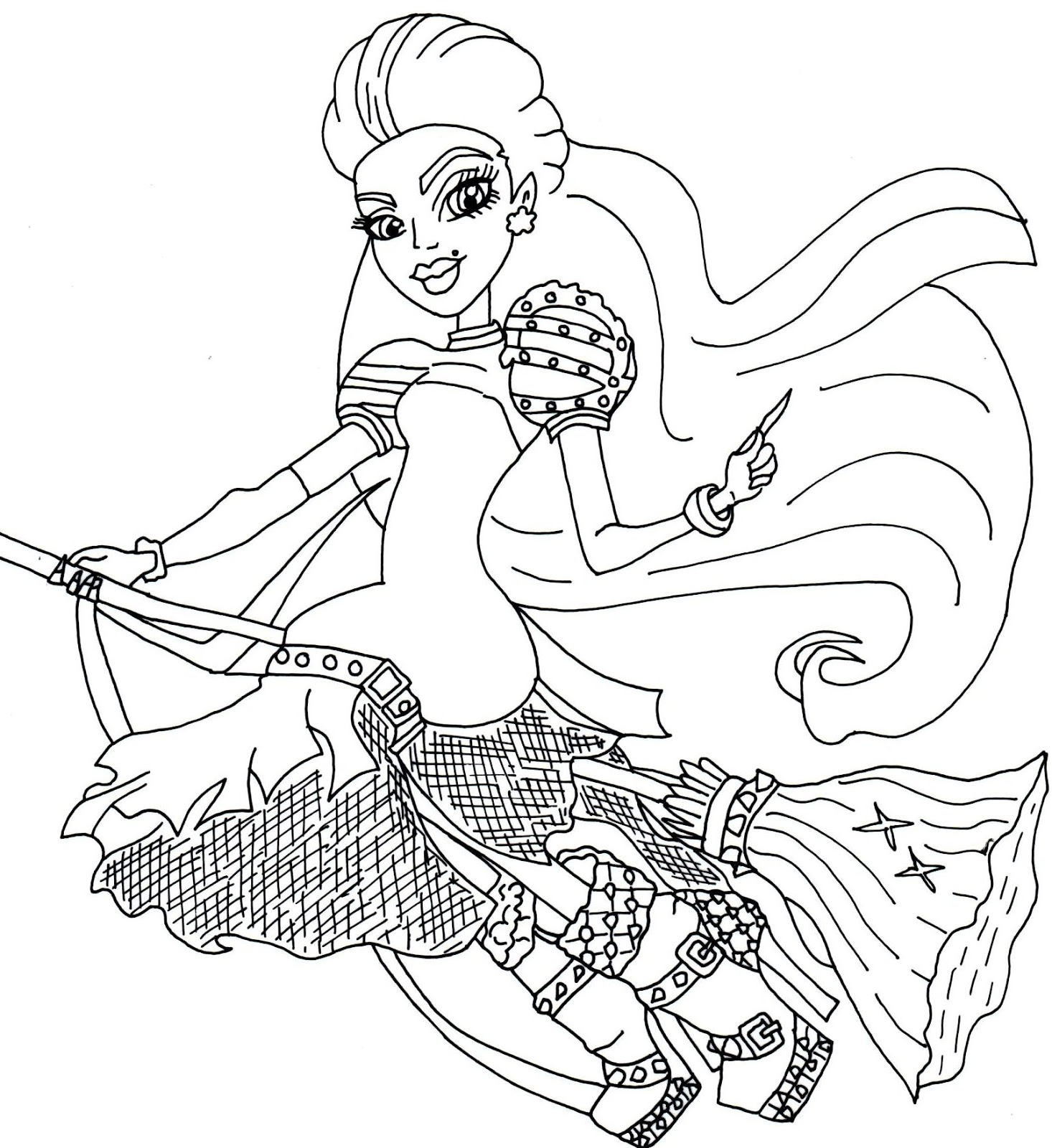 free printable coloring pages - free monster high coloring sheets