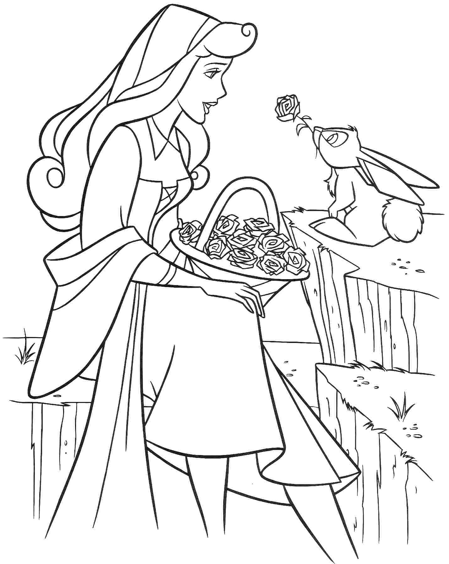free printable coloring pages - sleeping beauty coloring pages