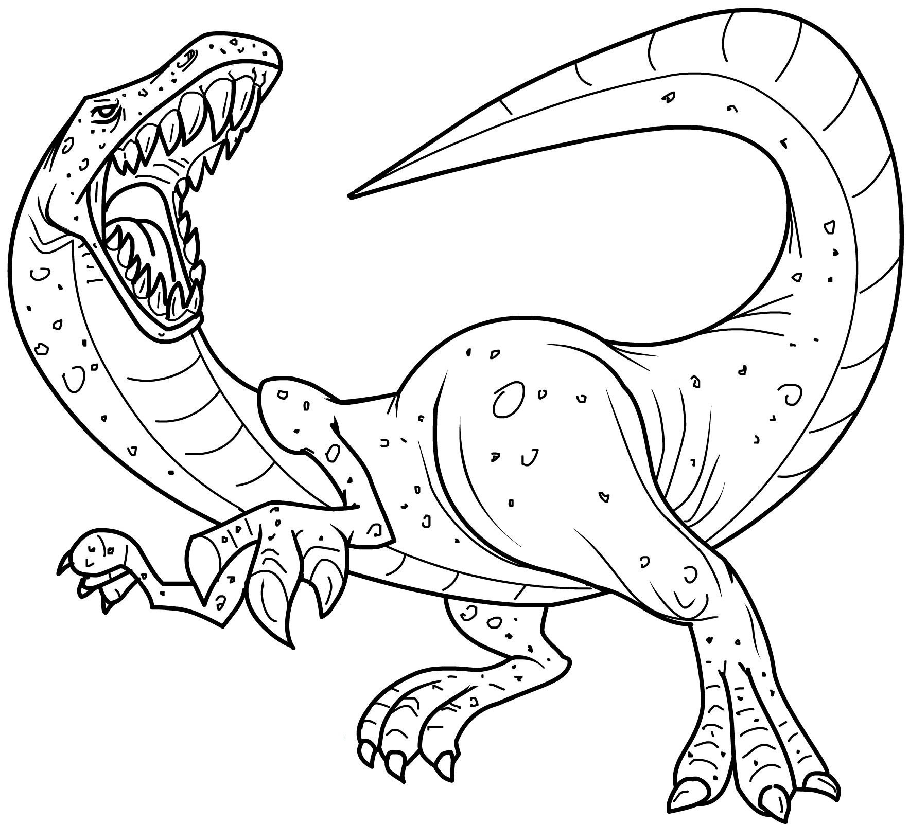 free printable dinosaur coloring pages - dinosaur