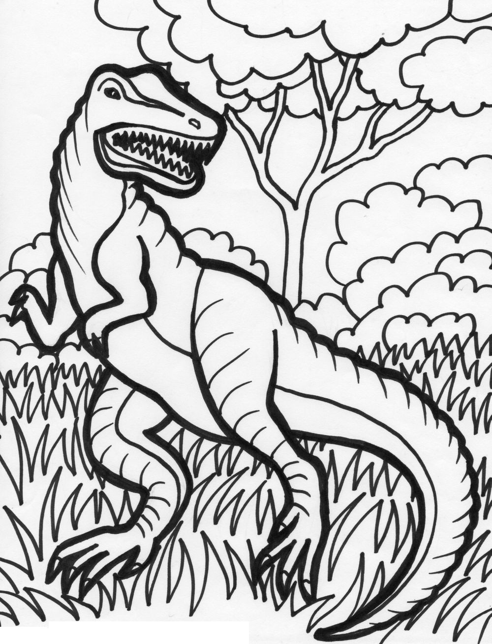 free printable dinosaur coloring pages - dinosaur coloring pages