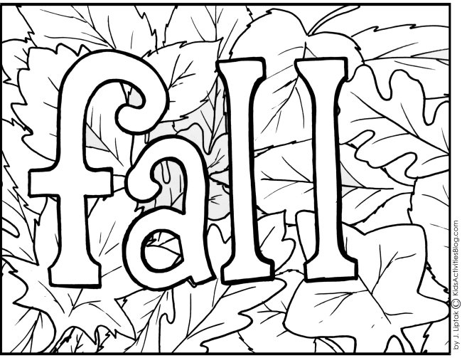 free printable fall coloring pages - fall coloring page