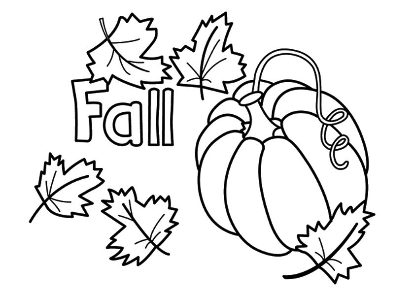 free printable fall coloring pages - fall coloring pages