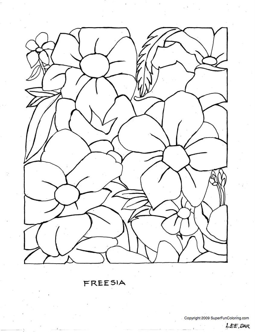 free printable flower coloring pages - flower coloring free printable coloring