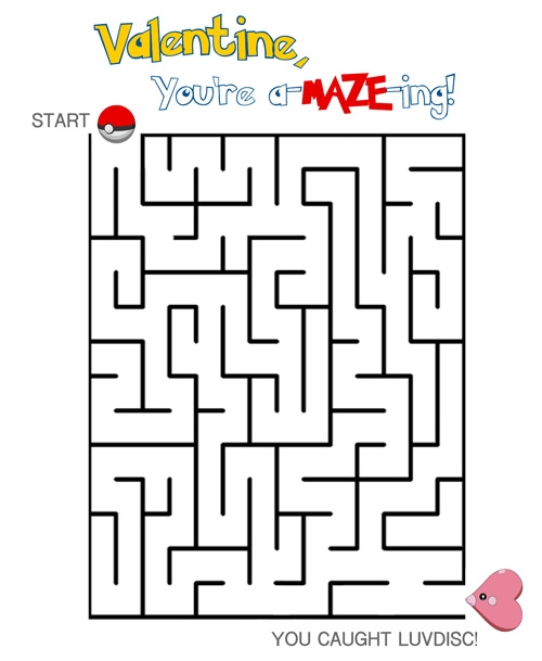 Free Printable Frozen Coloring Pages - Pokemon Valentine Maze – Free Printable