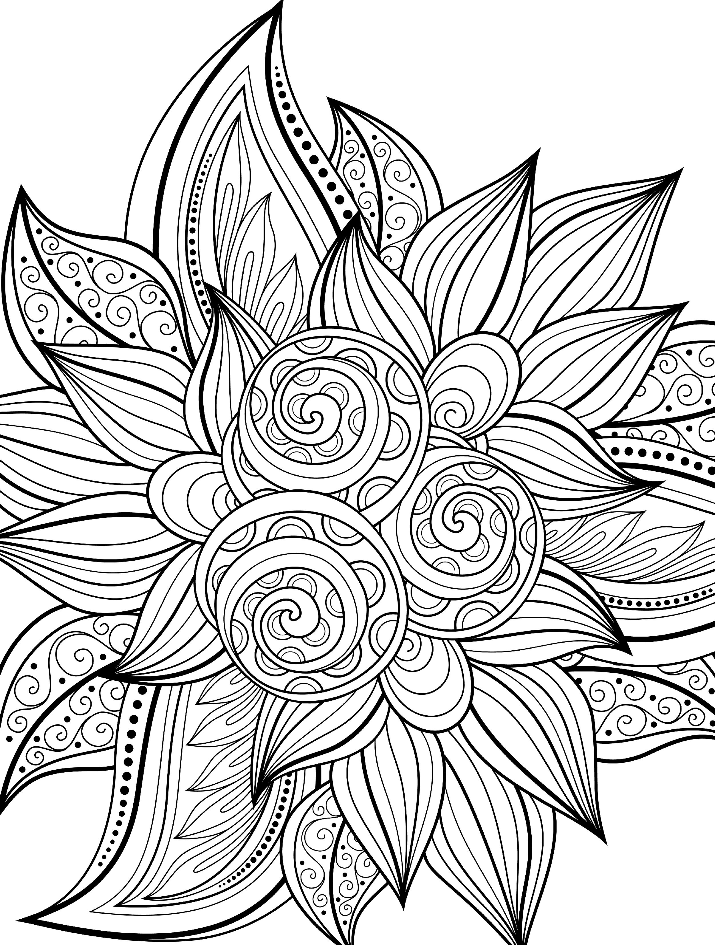 free printable holiday coloring pages - 5