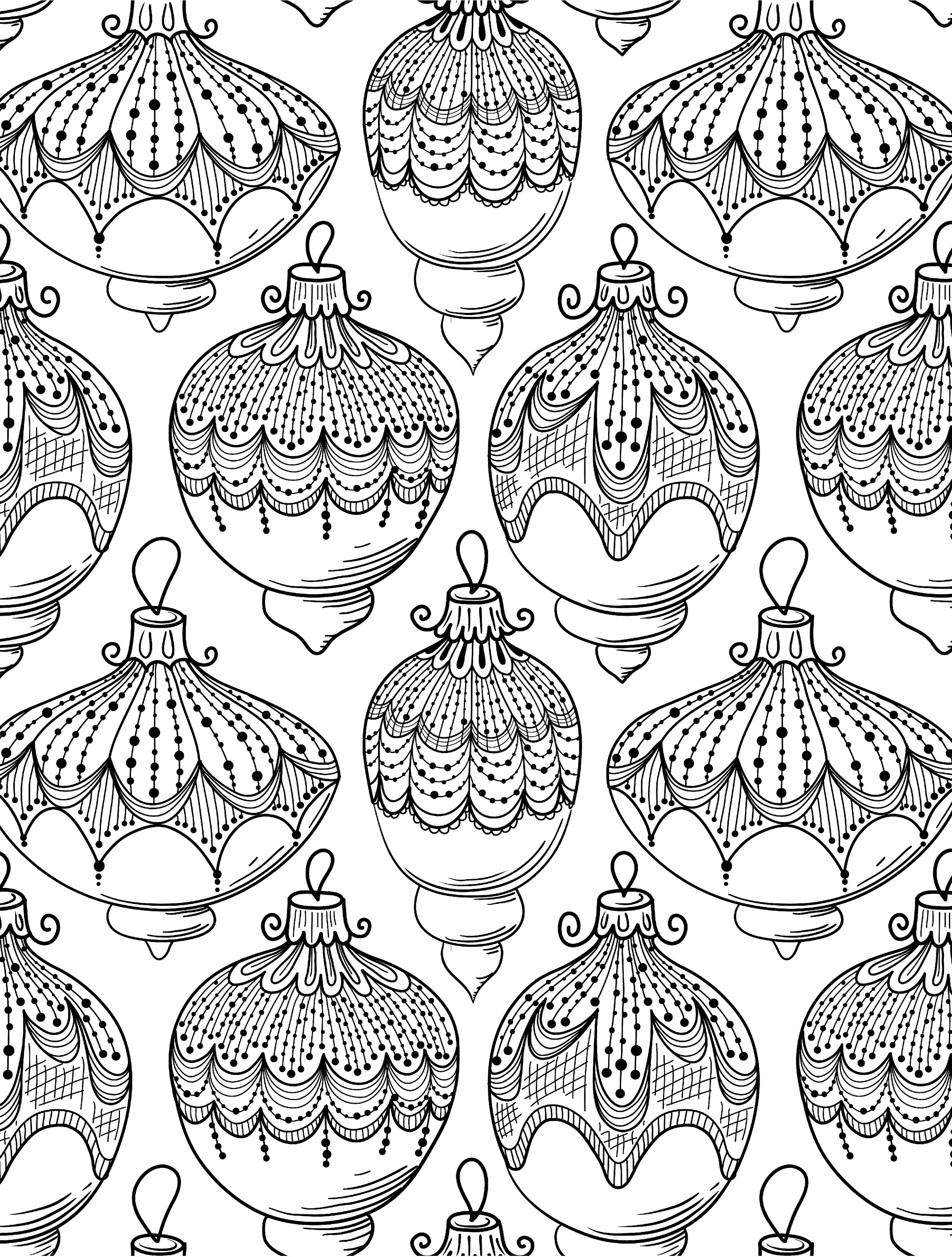 free printable holiday coloring pages - 8