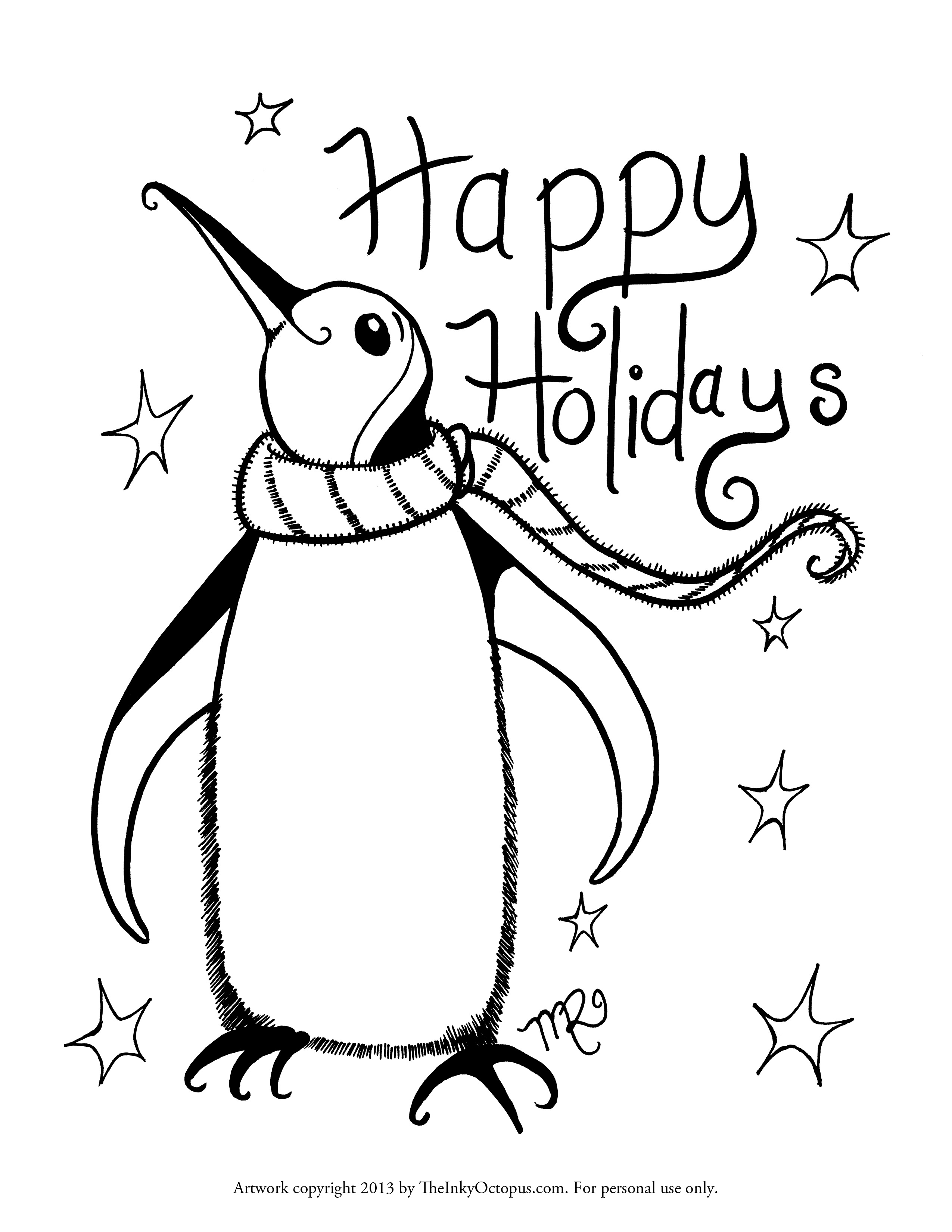 free printable holiday coloring pages - holiday coloring pages printables