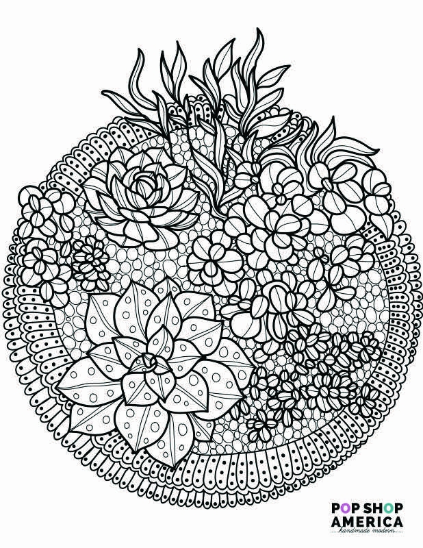 free printable mandala coloring pages for adults - free adult coloring book pages succulent terrariums
