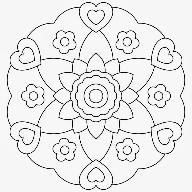 Free Printable Mandala Coloring Pages - Printable Coloring Pages