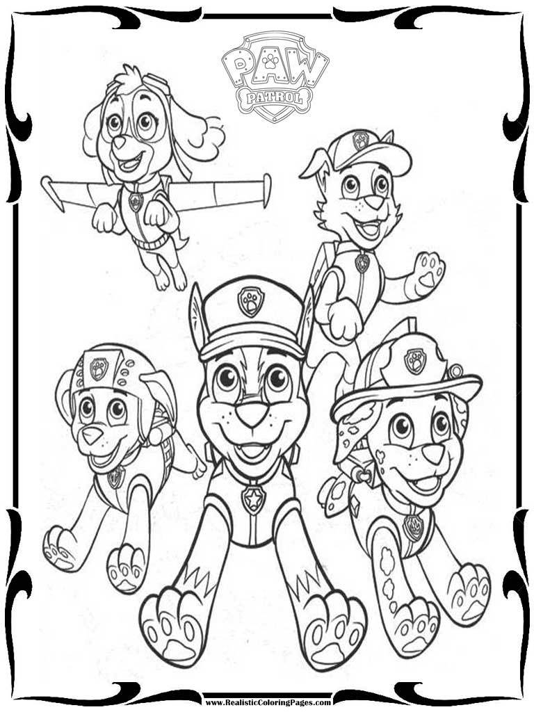 free printable paw patrol coloring pages - free paw patrol coloring pages to print